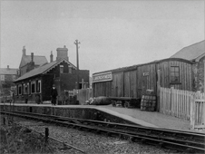 An old photo of Llanerchymedd station