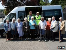 Community transport group in Powys