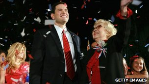 Marco Rubio and his mother Oria