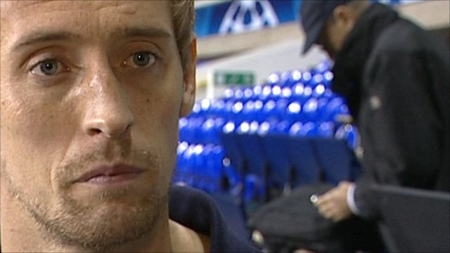 Tottenham striker Peter Crouch