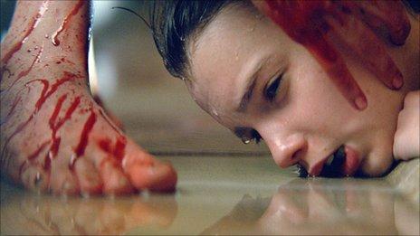 Kodi Smit-McPhee in a scene from Let Me In