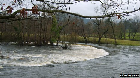 Horseshoe Falls, source of Llangollen Canal