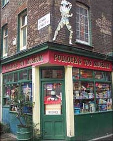 Pollock's Toy Museum in Covent Garden