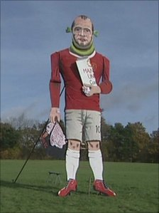 Effigy of Wayne Rooney
