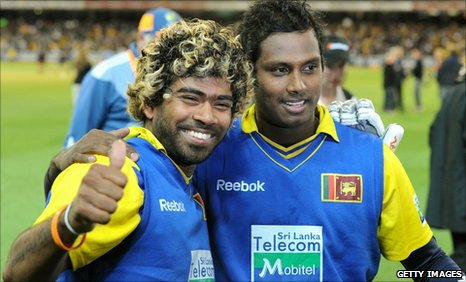 Lasith Malinga and Angelo Mathews