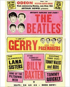 Beatles appearing in Weston-super-Mare poster