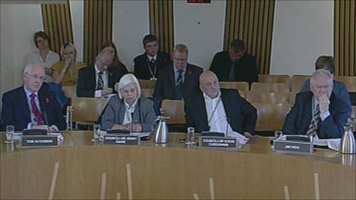 Councillor Jenny Dawe, Leader of the Council, Councillor Steve Cardownie, Deputy Leader of the Council, Tom Aitchison, Chief Executive, and Jim Inch, Director of Corporate Services, The City of Edinburgh Council