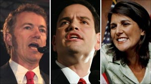 Rand Paul, Marco Rubio and Nikki Haley