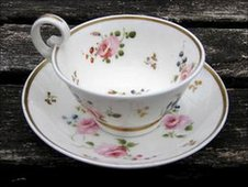Nantgarw porcelain cup and saucer