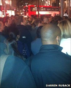 Bus queue at Oxford Circus