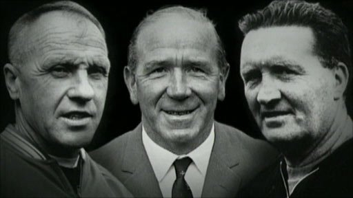 (L to R) Bill Shankly, Sir Matt Busby and Jock Stein