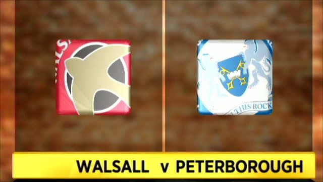 Highlights - Walsall 1-3 Peterborough