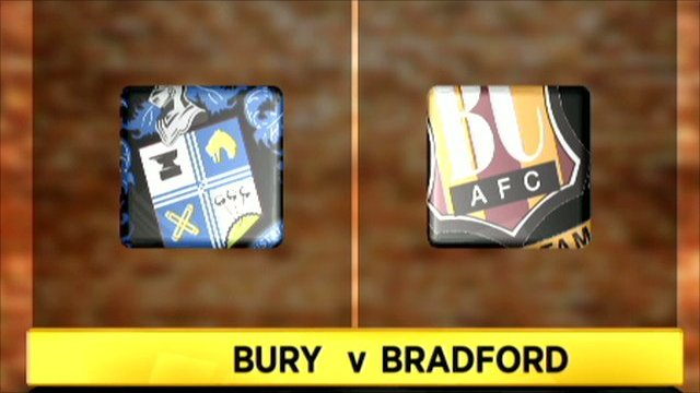 Bury 0-1 Bradford City