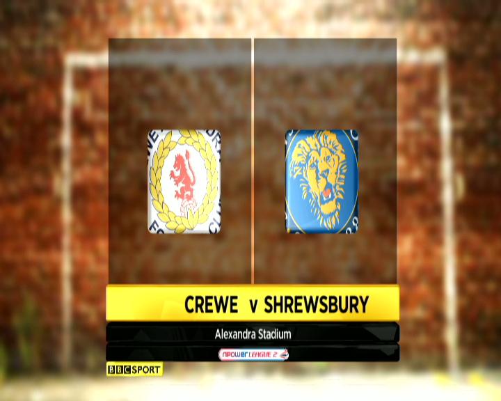 Crewe 1-2 Shrewsbury