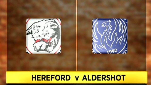 Hereford 2-2 Aldershot