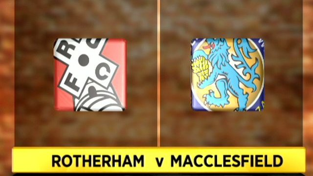 Rotherham 1-1 Macclesfield