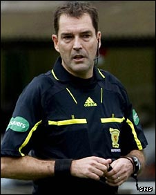 Referee Dougie McDonald