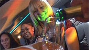 Women drinking on a night out