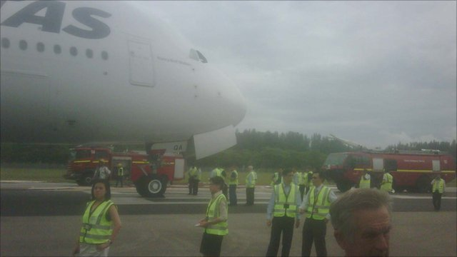 Mike Tooke's photo of the plane after landing