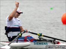 Tom Aggar celebrates victory in New Zealand