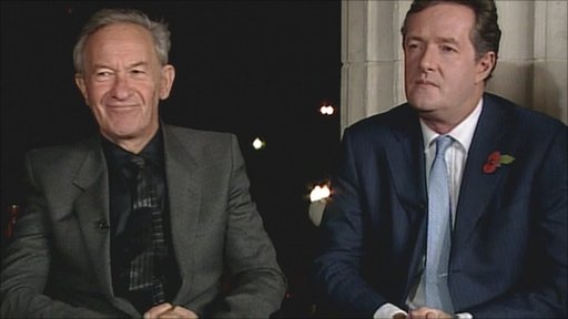 Simon Schama and Piers Morgan