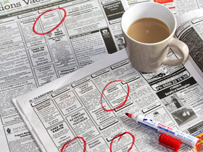 Job section of newspaper