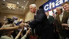 Florida Governor Charlie Crist thanks supporters after admitting defeat in his campaign for the US Senate by Republican Marco Rubio during a campaign party in St Petersburg, Florida