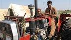 Mohamad Razi and tractor