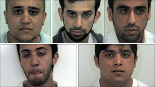 Clockwise from top left: Umar Razaq, Razwan Razaq, Mohsin Khan, Zafran Ramzan and Adil Hussain
