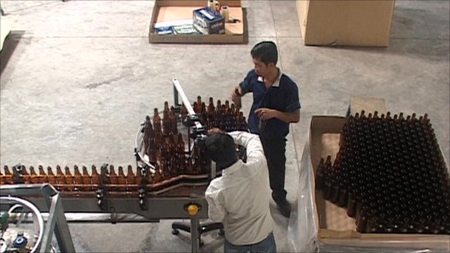Inside a brewery in Cambodia