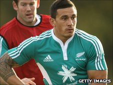 Sonny Bill Williams trains with the All Blacks ahead of Saturday's game against England