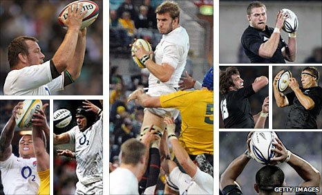 Clockwise from top left: Steve Thompson, Tom Croft, Kieran Read, Brad Thorn, Sam Whitelock, Keven Mealamu, Tom Palmer and Courtney Lawes