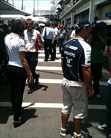 The busy Interlagos paddock