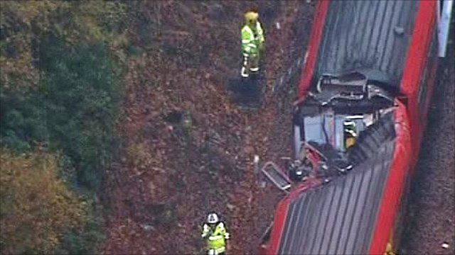 Damage to train near Oxshott station