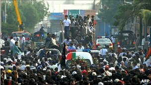 Pakistan city tense as Imran Farooq buried
