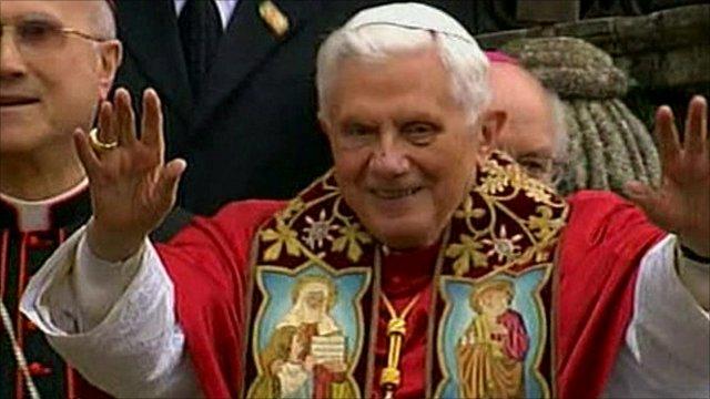 Pope Benedict in Santiago de Compostela