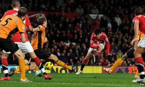 Park Ji-Sung scores the winner for Manchester United