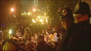 Bonfire celebrations in Lewes, East Sussex