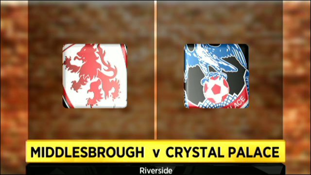 Middlesbrough 2-1 Crystal Palace