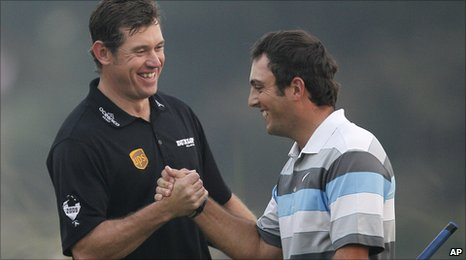 Lee Westwood and Francesco Molinari
