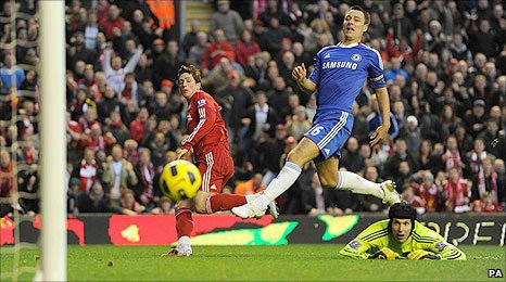 Fernando Torres scores for Liverpool