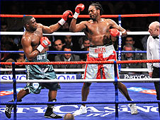 Audley Harrison (right) and Michael Sprott