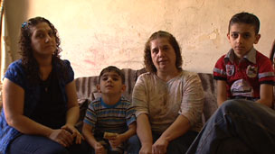 An Iraqi Christian family preparing to leave for the US