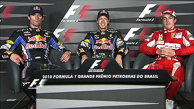 Top three drivers - Brazilian GP