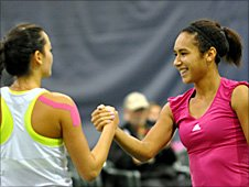 Alize Lim and Heather Watson