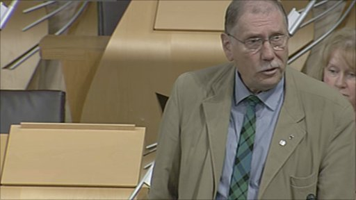 SNP MSP Rob Gibson leads a deabate on Scotland's peatlands.