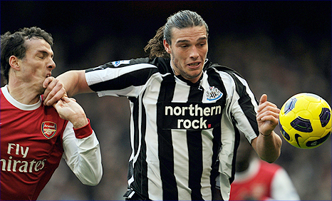 Newcastle striker Andy Carroll