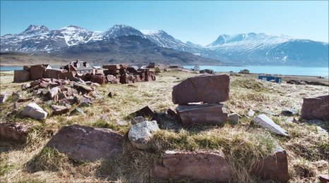 Abandoned Norse site in Greenland