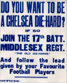 Recruitment poster for Chelsea 'Die-Hards'