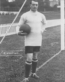 Whiting got his nickname for kicking the ball deep into the opposition's half
